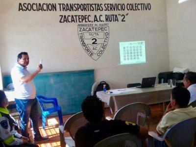 AVANZA CAPACITACIÓN A CHOFERES EN LA ZONA SUR DE MORELOS